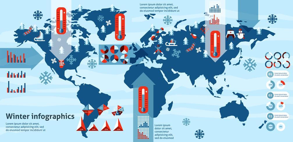 Winter Infografiken gesetzt vektor