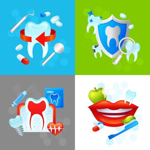 Zahnmedizinisches Designkonzept vektor