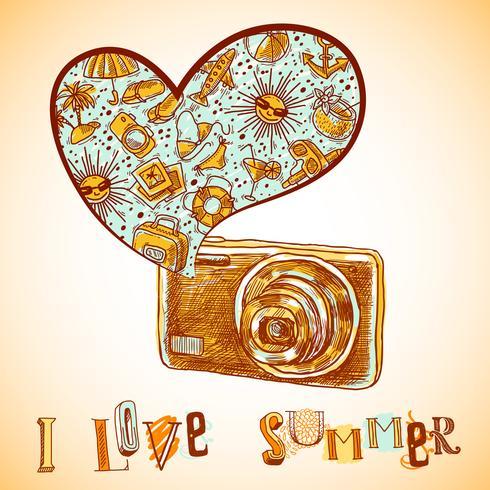 Sommar semester bakgrund vektor