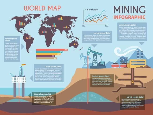 gruvor infographics set vektor