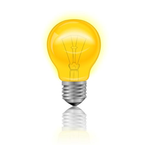 Glödlampa realistiska vektor