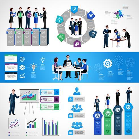 Teamarbeit Infographik Set vektor