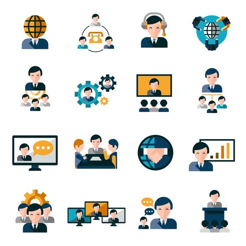 Business-Meeting-Symbole vektor