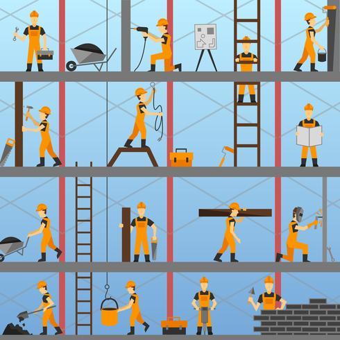 Bauprozess Hintergrund vektor