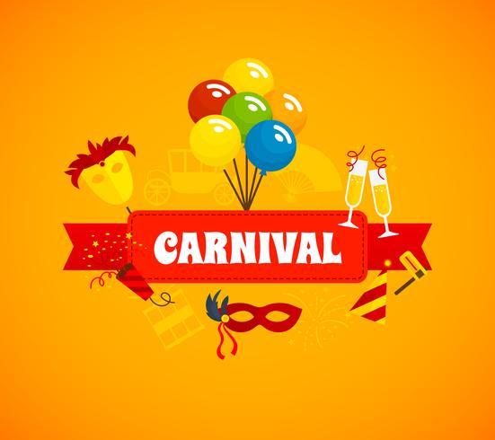 Karneval-flacher Hintergrund vektor