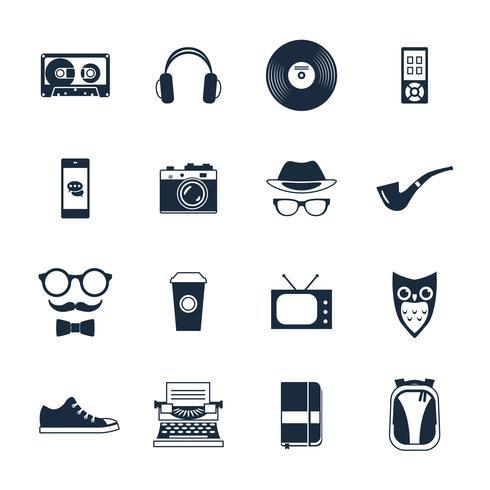Hipster-ikoner vektor