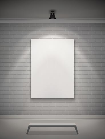 Galerie Interieur Realistisch vektor