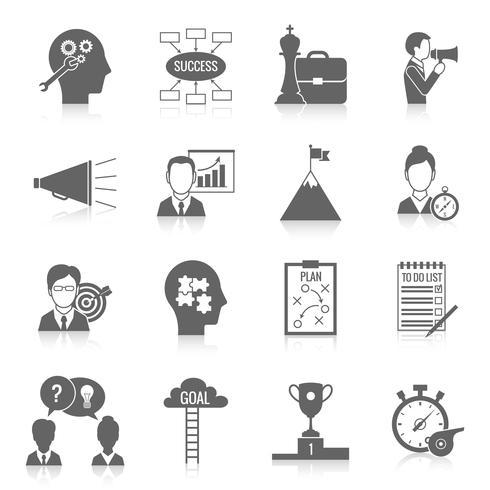 coaching business icon black vektor