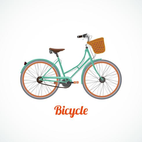 Vintage cykelsymbol vektor
