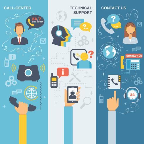 Support-Callcenter-Banner vektor