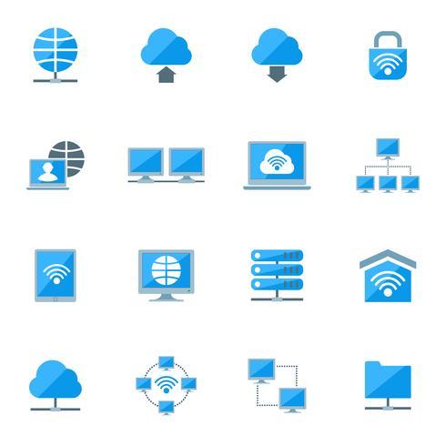 Netzwerk-Icons Set vektor