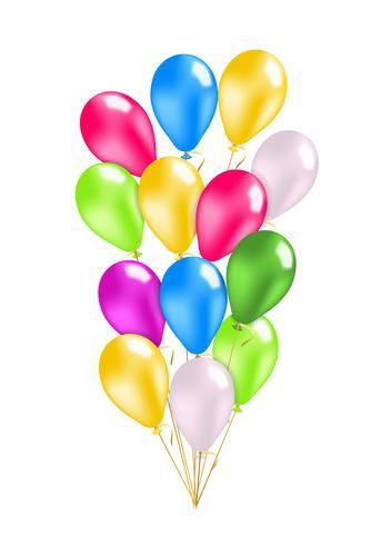Bunte Ballons packen vektor