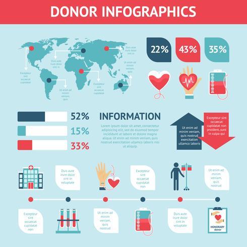 givare infografiska uppsättning vektor
