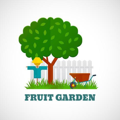 Fruktträdgårdaffisch vektor