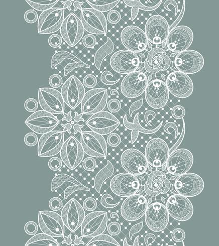 Spitzen nahtlose Muster vektor