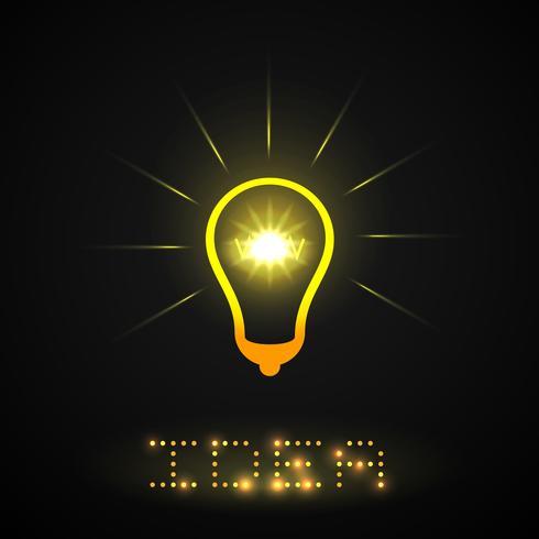 Idee Glühbirne vektor