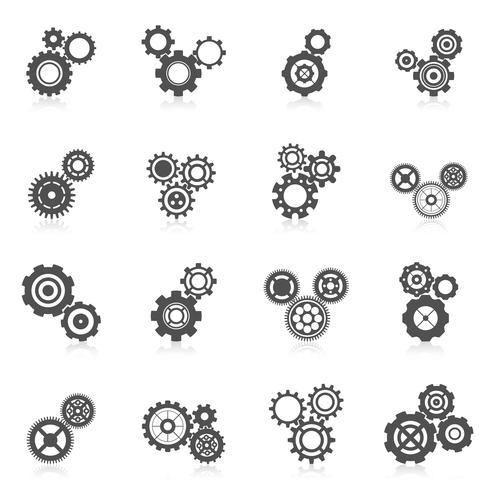 kugghjul ikon vektor