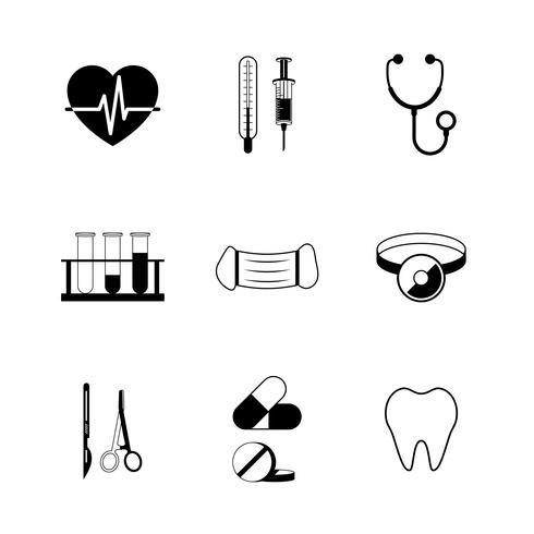 Medicinsk piktogramsamling vektor