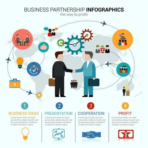 Business Partnership Infographics vektor