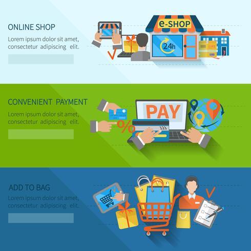 Shopping E-handel Banners vektor