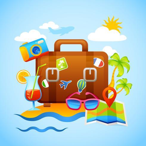 Ferien- und Tourismuskonzept vektor