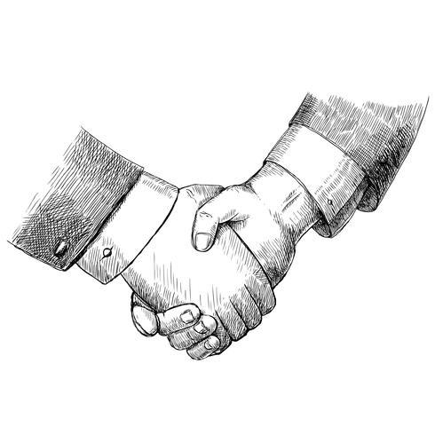 Business Handshake vektor