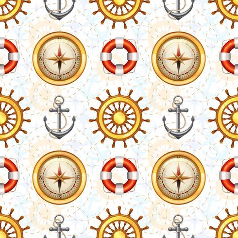 Marine nahtlose Muster vektor
