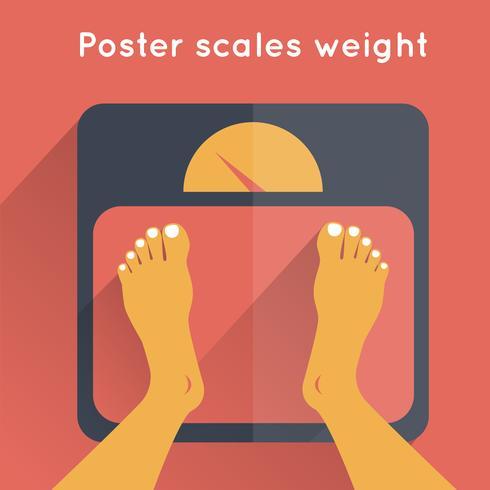 Poster skaliert das Gewicht vektor