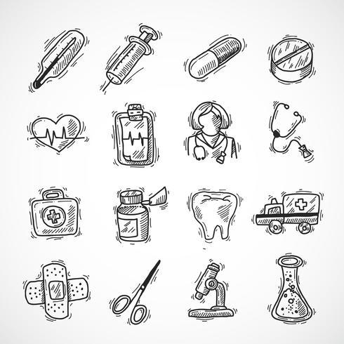 Medicinska och sjukvårdssymboler vektor