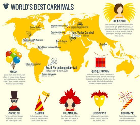 Karneval Infografik Poster drucken vektor