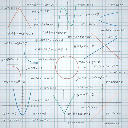 Mathematik Papierhintergrund vektor