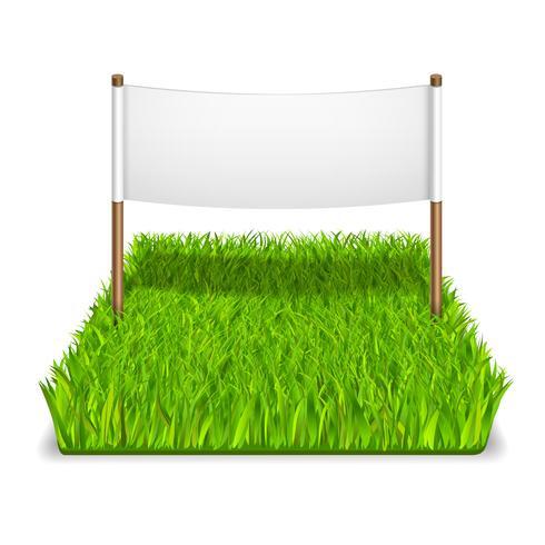 grönt gräs tecken vektor