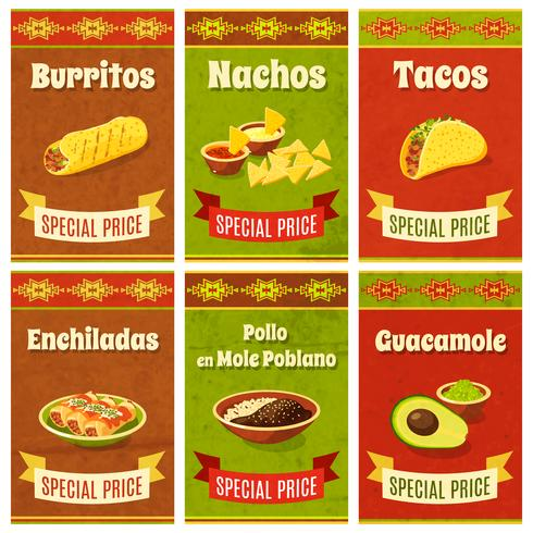 Mexikanisches Essen Poster vektor