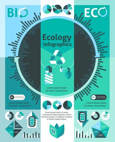 ekologi infographics set vektor