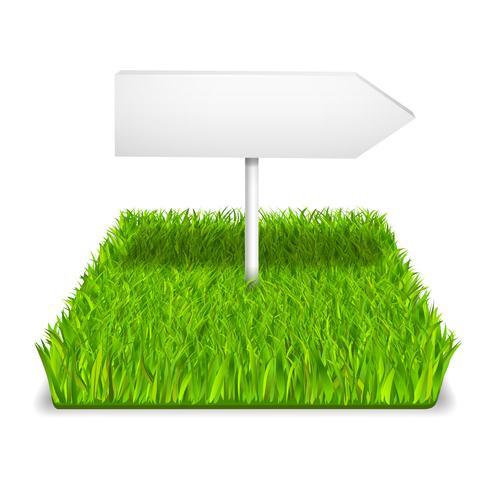 grünes Gras Pfeil vektor