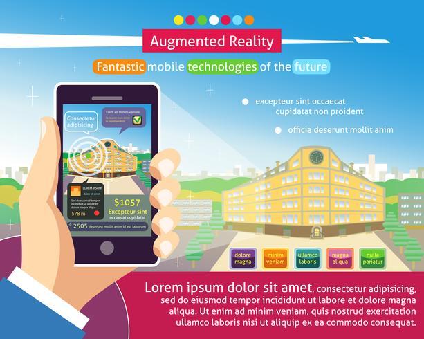 Augmented-Reality-Poster vektor