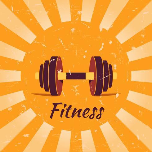 Vintage fitness poster bakgrund vektor