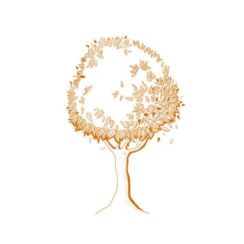 höstträd vektor