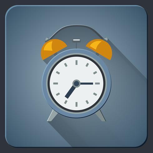 Väckarklocka ikonen vektor