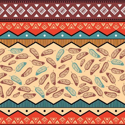 Etnisk tribal mönster bakgrund vektor