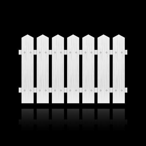 Vitt staket kakel vektor