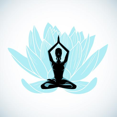 yoga meditation vektor
