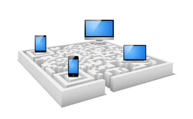 digitales labyrinth vektor