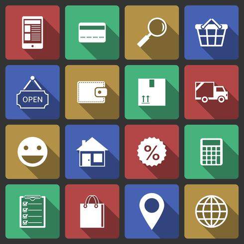 Set von Internet-Shopping-Icons vektor