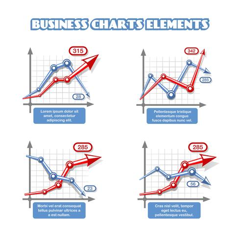 Business graph element för infographics vektor