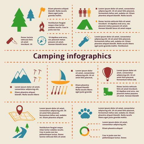 Camping und Tourismus Infographik Elemente vektor