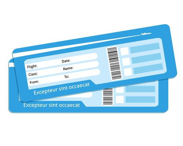 Blank flygbiljetter vektor
