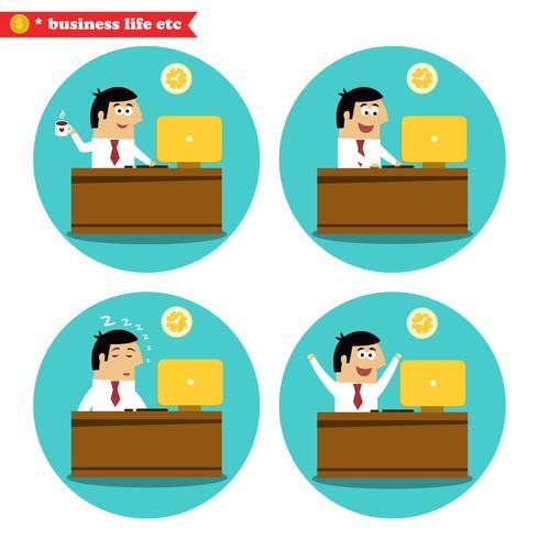 Büroangestellter am Schreibtisch vektor