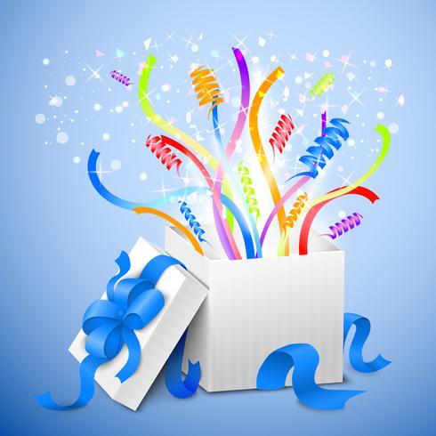 Födelsedagspresentpaket vektor