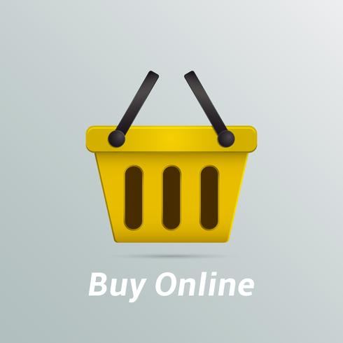 Varukorg köp nu online vektor